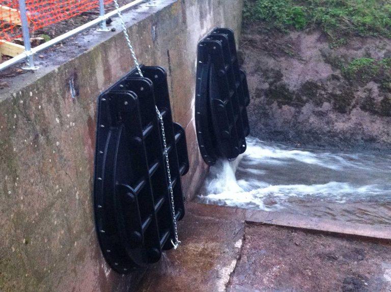 Aerial view of Bath Pool Industrial Flap Valves